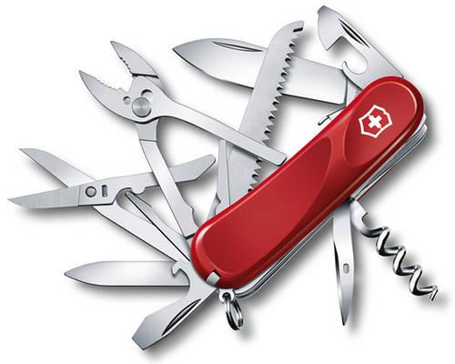 Армейский надежный складной нож Victorinox Evolution S52 23953.SE красный