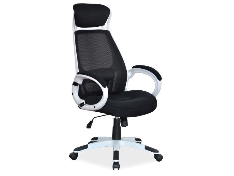 Крісло комп'ютерне Q-409 чорно білий (Signal)