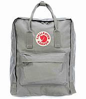 Рюкзак Fjallraven Kanken Classic. Вместительный рюкзак. Рюкзаки Канкен. Рюкзак Шведский Канкен. Серый, фото 1