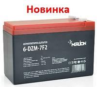 Тяговый аккумулятор Merlion 6-DZM-7 12В 7Aч F2, фото 1