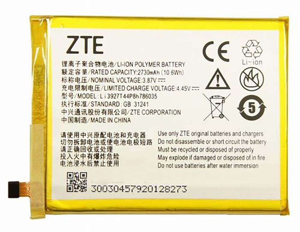 Аккумулятор АКБ ZTE Li3927T44P8h786035 для ZTE Blade V8 (Li-ion 3.85V 2730mAh) Оригинал Китай