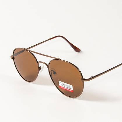 Оптом поляризационные  солнцезащитные очки авиаторы (арт. P8048/5) коричневые, фото 3