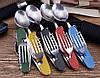 Набір туриста ложка-вилка-ніж - ідеальний варіант для полювання, риболовлі, туризму та подорожей