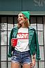"""Футболка жіноча біла з принтом """"Marvel"""", фото 3"""