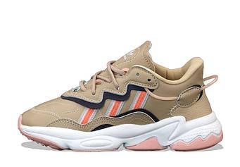 """Женские кроссовки Adidas Ozweego """"Brown""""  (люкс копия)"""
