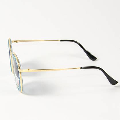 Оптом женские поляризационные  солнцезащитные круглые очки (арт. P3389/4) синие, фото 3