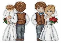 Набор для вышивки крестиком Жених и невеста 19 х 13 см МП Студия