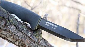 Нож Morakniv Bushcraft Black Carbon Steel (Черный цвет)  Черный клинок (12490)