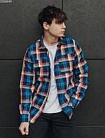 Рубашка Staff orange & blue. [Размеры в наличии: XS,S,M,L,XL]