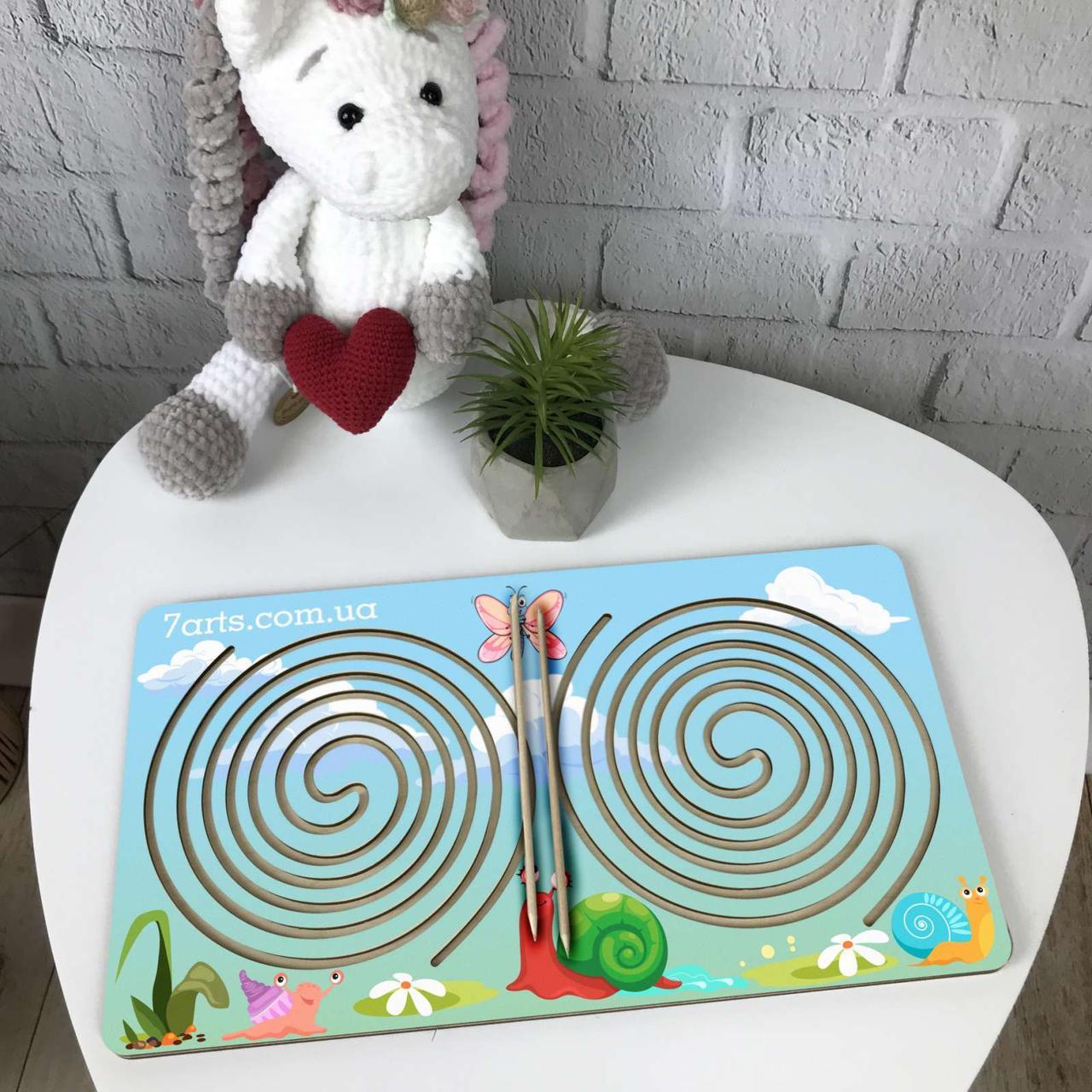 Цветная деревянная доска межполушарного развития ребенка «Круг»