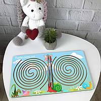 Цветная деревянная доска межполушарного развития ребенка «Круг», фото 1