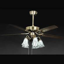 Люстра-вентилятор потолочный IMPERIA пятиламповый четырех лопосной LUX-555051