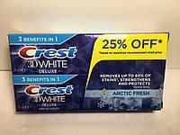 Зубна паста Crest 3D White Deluxe Arctic Fresh 2*75 мл.