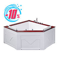 Гидромассажная ванна Iris TLP-667, угловая, 150 х 150 х 70 см, с деревянной накладкой