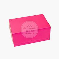 Упаковка для зефіру і еклерів - Рожева - 180х120х80 мм