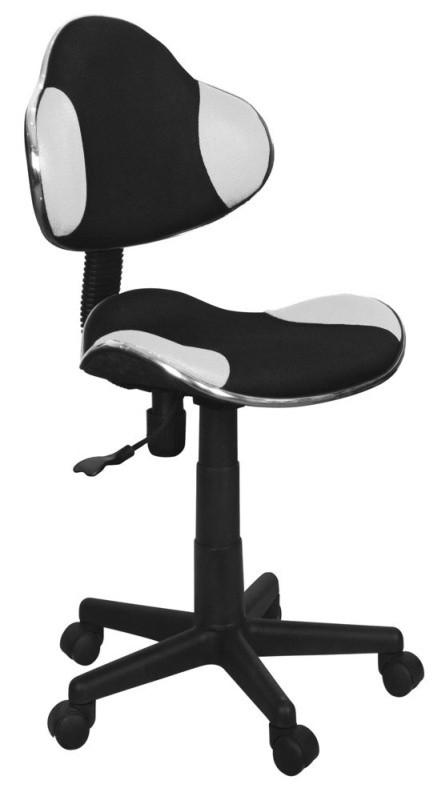 Крісло комп'ютерне Q-G2 чорно білий (Signal)