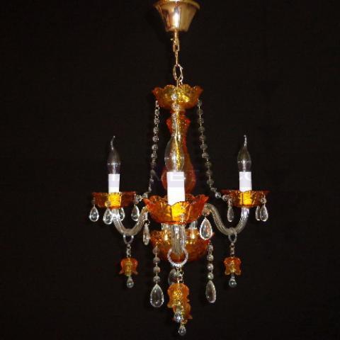 Люстра со свечами хрустальная IMPERIA трехламповая LUX-401500