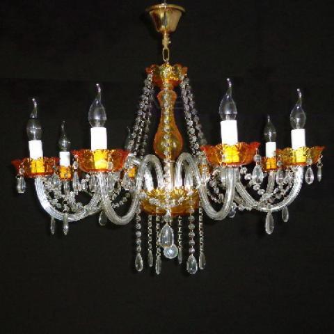 Люстра со свечами хрустальная IMPERIA восьмиламповая LUX-401502