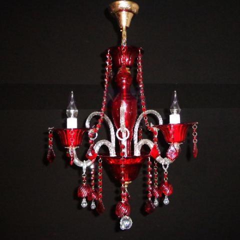 Люстра со свечами хрустальная IMPERIA трехламповая LUX-430460