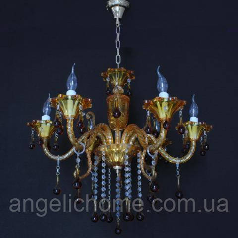 Люстра со свечами хрустальная IMPERIA шестиламповая LUX-434650
