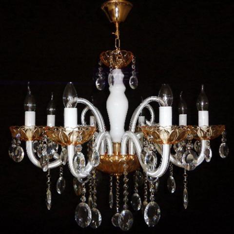 Люстра со свечами хрустальная IMPERIA восьмиламповая LUX-452442