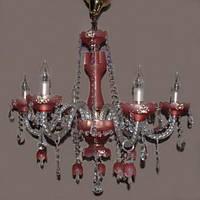 Люстра со свечами хрустальная IMPERIA шестиламповая LUX-401441