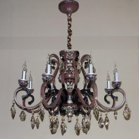 Люстра со свечами хрустальная IMPERIA восьмиламповая LUX-533226