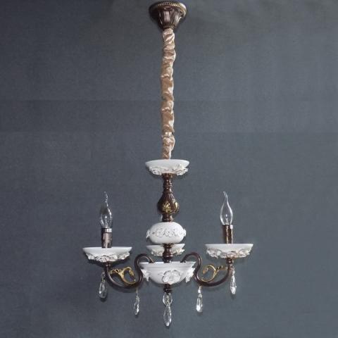 Люстра со свечами хрустальная IMPERIA трехламповая LUX-533425