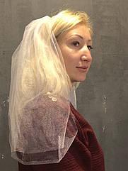 Фата для девичника Белая