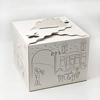 Коробка для торта Бабочка с Принтом 250*250*200 мм