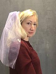 Фата для девичника Сиреневая