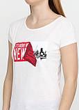 Футболка женская молочная с надписью Spora, S, L, фото 3