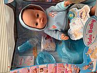 Пупс кукла , плачет, ест, пьет, писает, двигается, закрывае глазки, фото 1