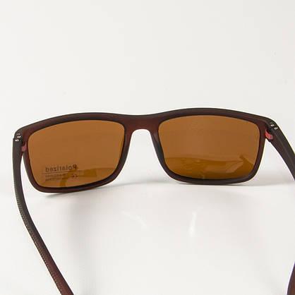 Поляризационные  спортивные мужские солнцезащитные  очки  (арт. P76070/3) коричневые, фото 3