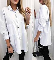 Рубашка туника женская белая