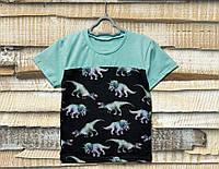 Детская футболка для мальчика Динозавры  116см