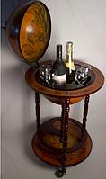 Глобус бар напольный 33001 R (33*88*44 см) на 3 ножках коричневый