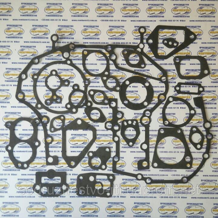 Набор прокладок для ремонта двигателя автомобиль КамАЗ (прокладка паронит 0.8 мм.) (малый набор)
