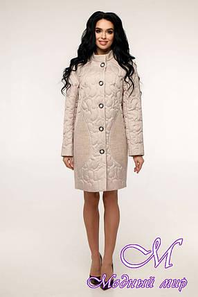 Женское осеннее пальто плащевка + трикотаж (р. 44-54) арт. 11-05/100-17, фото 2