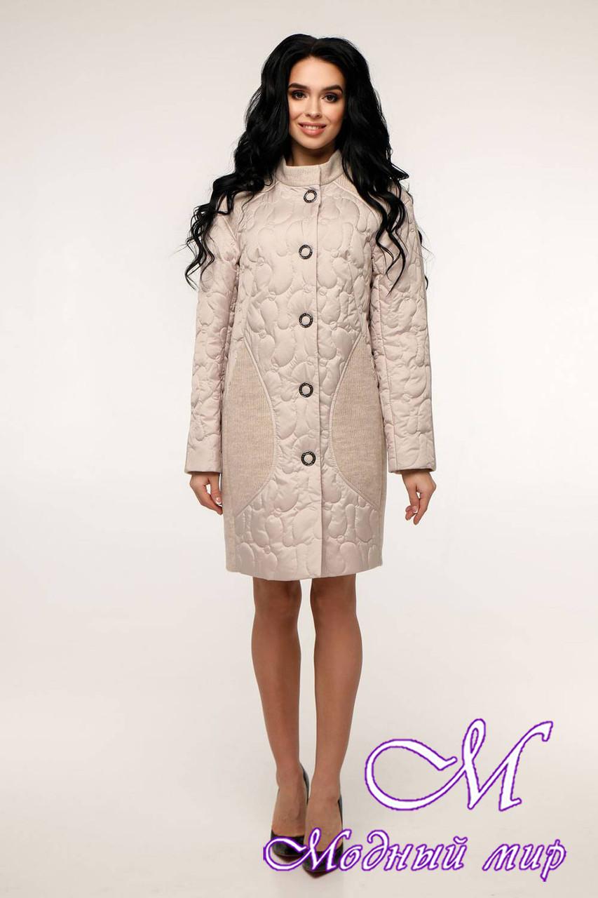 Женское осеннее пальто плащевка + трикотаж (р. 44-54) арт. 11-05/100-17