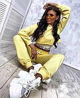 Костюм спортивный женский чёрный, красный, бежевый, желтый, белый, морская волна 42 44 46