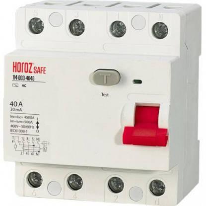 УЗО 40А 4Р Safe Horoz Electric 114-003-4040-010, фото 2