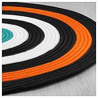 Ковер плетеный оранжевый ИКЕА ЛАТТО 75 см. 003.768.71