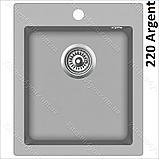 Гранітна мийка AquaSanita Simplex SQS-100 (425х500 мм.), фото 8