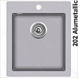 Гранітна мийка AquaSanita Simplex SQS-100 (425х500 мм.), фото 7