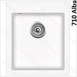 Гранітна мийка AquaSanita Simplex SQS-100 (425х500 мм.), фото 3