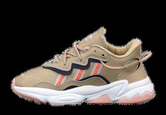 Женские кроссовки adidas Ozweego (адидас озвиго) светло-коричневый