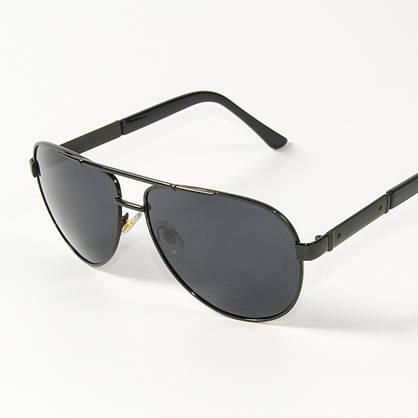 Оптом поляризационные  солнцезащитные  очки авиаторы (арт. P9108/1) с черной оправой, фото 3