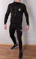 Мужской спортивный костюм Puma Ferrari черный с желтым