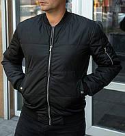 Мужская демисезонная куртка бомбер чёрная